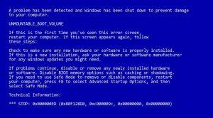 windows bluescreen